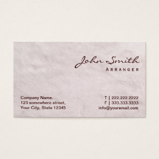 White Fur Music Arranger Business Card