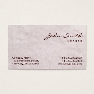 White Fur Real Estate Broker Business Card
