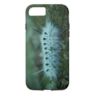 White Fuzzy Caterpillar Tough iPhone 7 Case