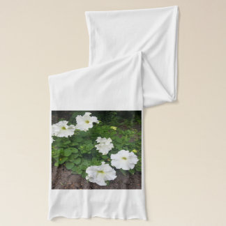 White garden flowers photograph scarf
