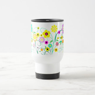 White Garden Travel Mug
