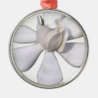 White Gardenia Bud 201711g Metal Ornament