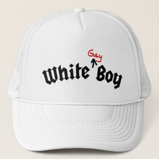 White Gay Boy Hat