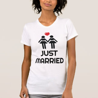 White Gay Marriage Shirt Just Married For Women