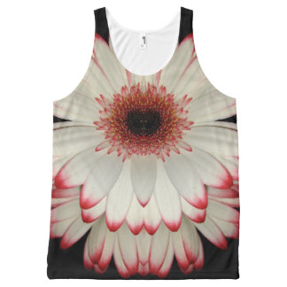 White Gerbera Daisy All-Over-Print Tank Top