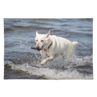 White German Shepard on Lake George Placemat