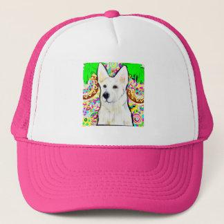 White German Shepherd Bling Trucker Hat