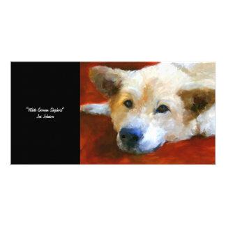 White German Shepherd Dog Collectible Photo Card