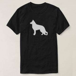 White German Shepherd Dog Silhouette T-Shirt