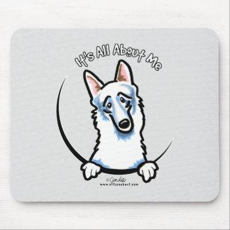 White German Shepherd IAAM Mouse Pad