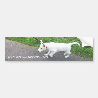 White German Shepherd Lover Bumper Sticker