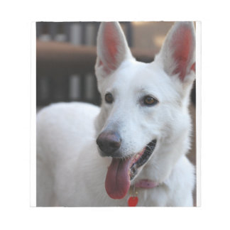 white german shepherd notepad