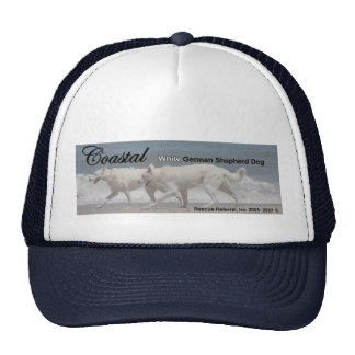 White German Shepherd Rescue Trucker Hat