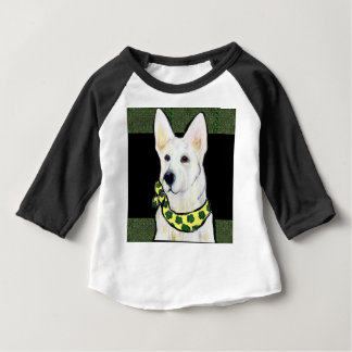 White German Shepherd St. Patty Baby T-Shirt