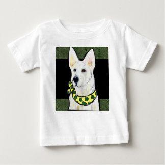 White German Shepherd St. Patty Baby T-Shirt