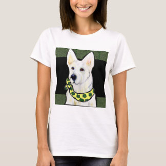 White German Shepherd St. Patty T-Shirt
