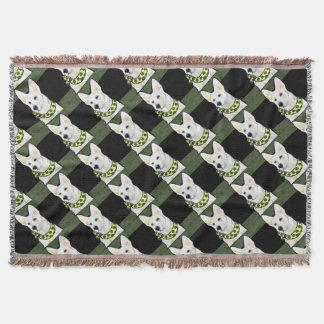 White German Shepherd St. Patty Throw Blanket