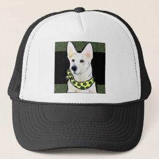 White German Shepherd St. Patty Trucker Hat