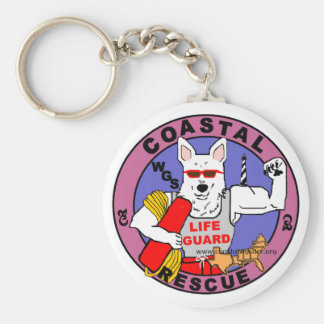 White German Shepherds Key Chain
