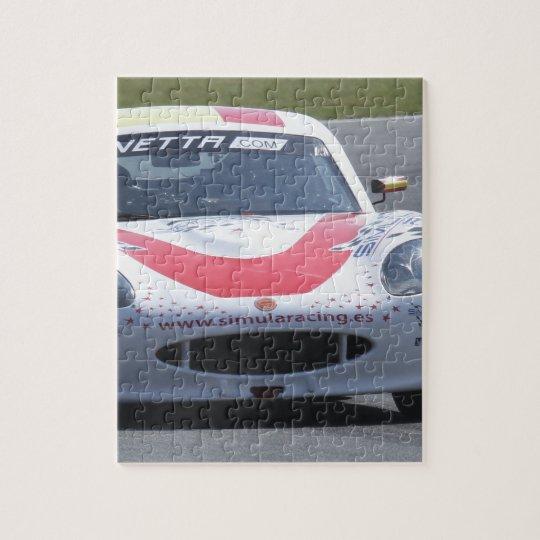 White Ginetta racing car Jigsaw Puzzle