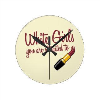 White Girls Wallclock
