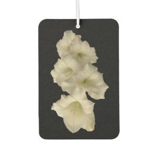 White Gladiola Flower Air Freshener