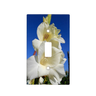 White Gladiolus And The Blue Sky Light Switch Cover