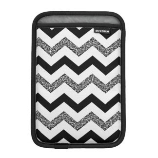 White Glitter Chevron iPad Mini Vertical iPad Mini Sleeve