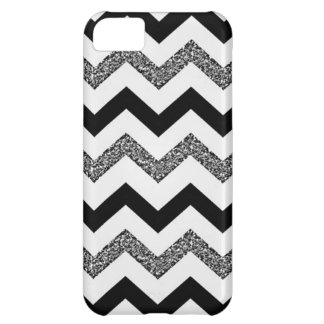 White Glitter Chevron iPhone 5C Phone Case