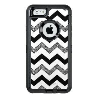 White Glitter Chevron iPhone 6/6s Otterbox Case