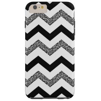 White Glitter Chevron iPhone 6/6s Plus Phone Case