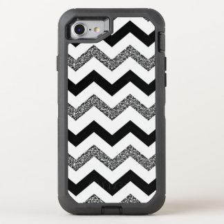 White Glitter Chevron iPhone 7 Otterbox Case