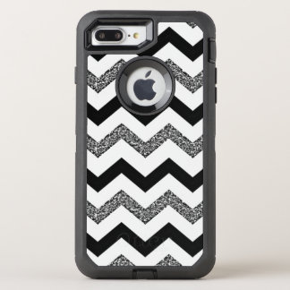 White Glitter Chevron iPhone 8/7 Plus Otterbox