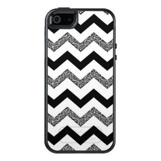 White Glitter Chevron iPhone SE/5/5s Otterbox Case