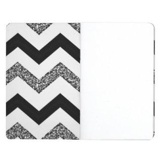White Glitter Chevron Pocket Journal