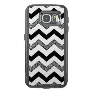 White Glitter Chevron Samsung Galaxy S6 Otterbox