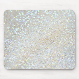 white glitter faux effect mouse pad