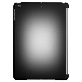 White glow on black iPad air cover