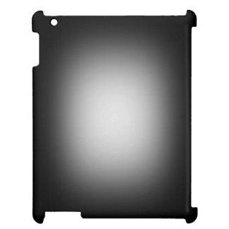 White glow on black iPad cover