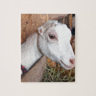 White Goat Jigsaw Puzzle