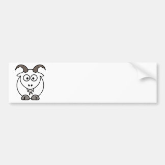White Goat selection Bumper Stickers