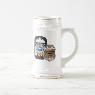 White/Gold 22 oz. Stein