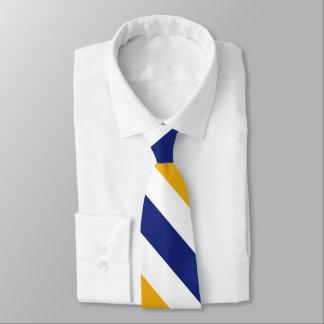 White Gold and Blue University Stripe Tie