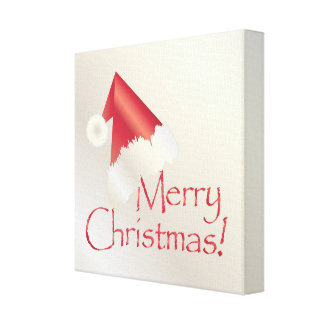 White gold Christmas Canvas Print