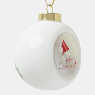 White gold Christmas Ceramic Ball Christmas Ornament