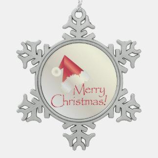 White gold Christmas Snowflake Pewter Christmas Ornament