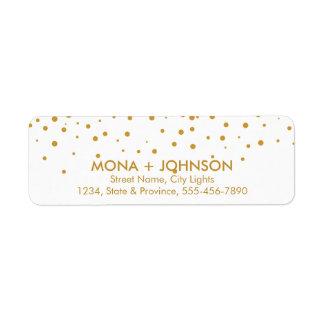 White Gold Glitter Sparkle Confetti Dots Modern