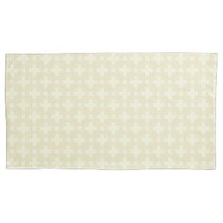 White Gold Motif accent Pillowcase