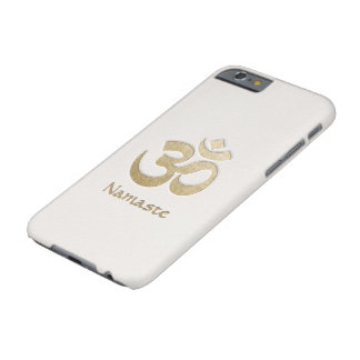 White & Gold OM Symbol Yoga Mediation Instructor Barely There iPhone 6 Case