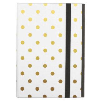 White Gold Polka Dot Case For iPad Air